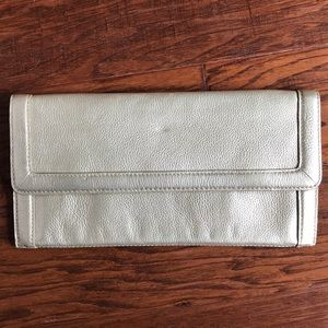 Banana Republic gold envelope clutch